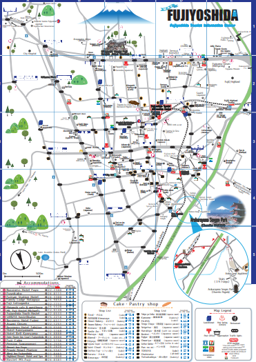 【ENGLISH】Fujiyoshida City Map by FTIC